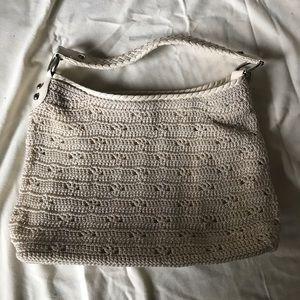 The Sak Crochet tan shoulder purse